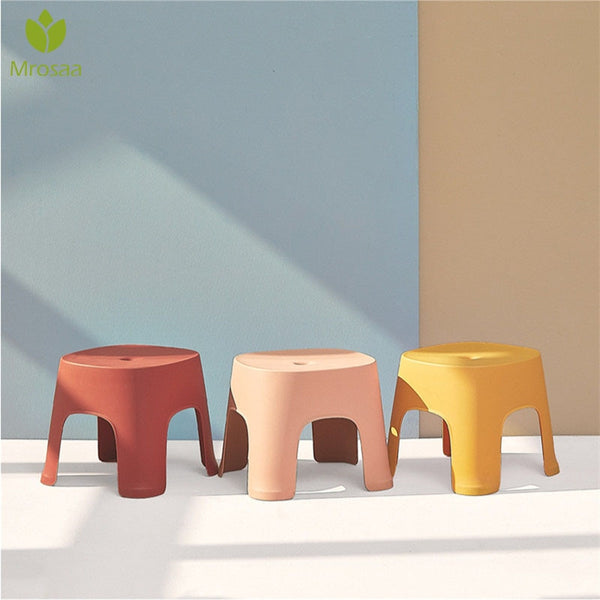 Strong 6 Colors Thicken Plain Children Stools Living Room Non-slip Bath Bench