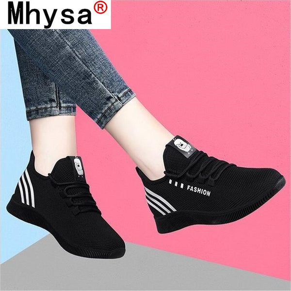 Women Casual Shoes Breathable Mesh platform Sneakers