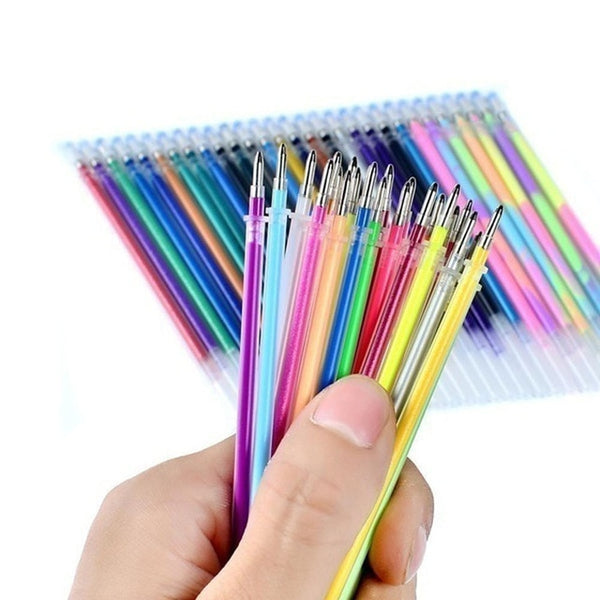 24Colors Refills Markers Gel Pen Replace Supplies 5ML