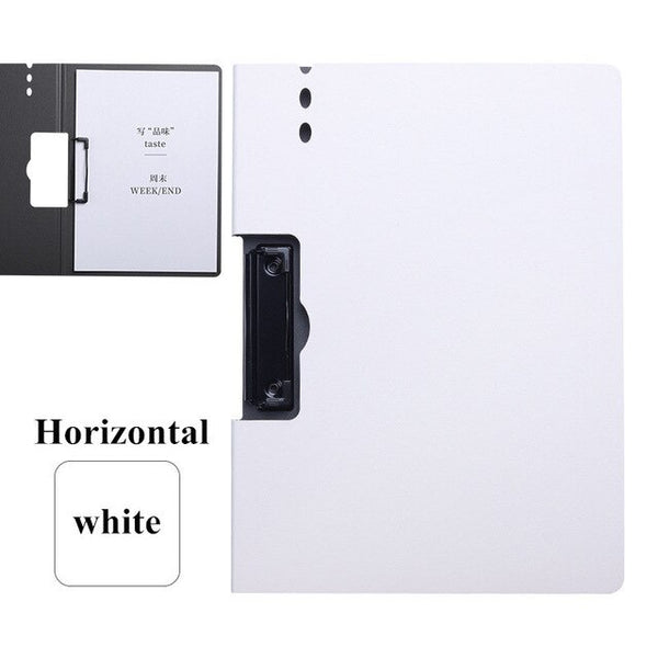 A4 Manager File Folder Board Folder Kawaii PP Thick Writing Pad Clip Waterproof