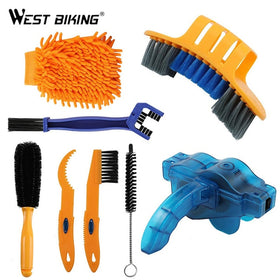 8 PCS Bike Chain Cleaner Brushes Cycling Cleaning Kit