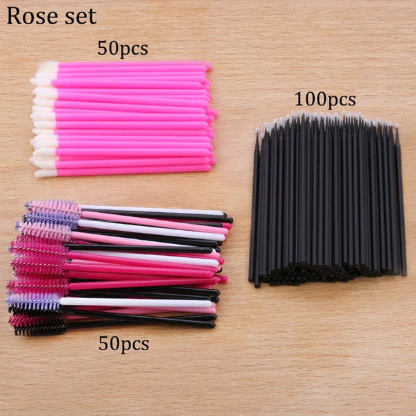 50pcs Disposable Eyelashes brushes Individual Lash Removing Cleaning Mascara Applicator