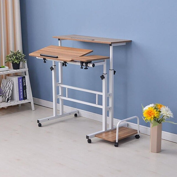 Height Adjustable Standing Desk Compuer Laptop Desk 2 Layers 31.5