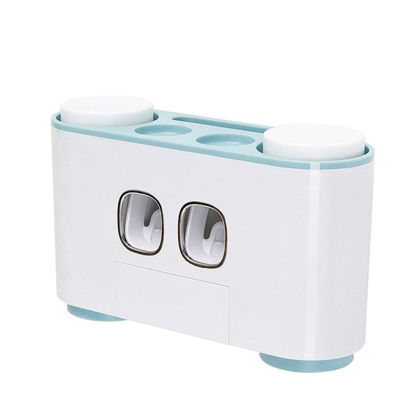 Wall-mounted Automatic Toothpaste Dispenser 4 Toothbrush Holder