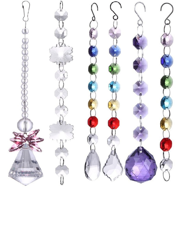 DIY Rainbow Maker Crystal Sun Catchers Chandelier Crystals Ball Prism Pendant