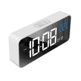 LED Digital Clock Alarms Voice Control Snooze Temperature