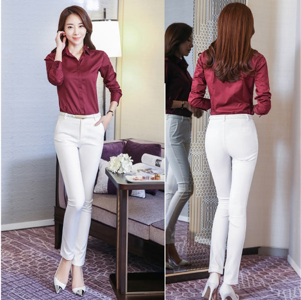 Women Pencil Pants High Waist Ladies Office Trousers Casual Female Slim Bodycon Pants