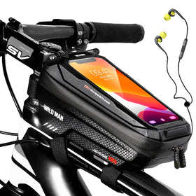 Bike Bag Frame Front Top Tube Cycling Bag Waterproof 6.6