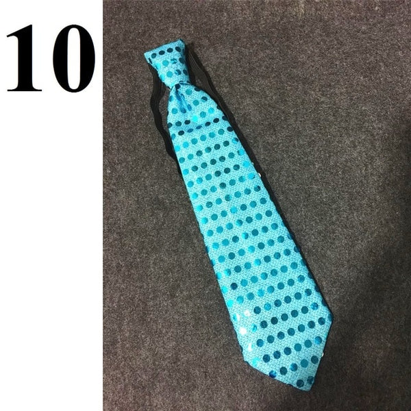 10 pieces Mens Bow Ties LED Flashing Light Up Sequin Boys Necktie