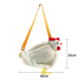 Women Ladies Cute Chicken Mini Chain Shoulder Crossbody Bag
