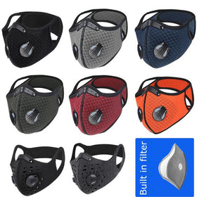 Breathable Face Mask with Ventilated Vales Men Women Sport Mask