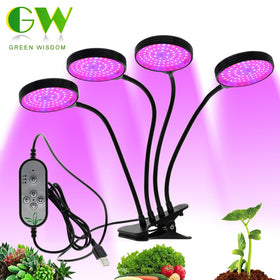 Full Spectrum Phyto lamps DC5V USB LED Grow Light with Timer 15W 30W 45W 60W