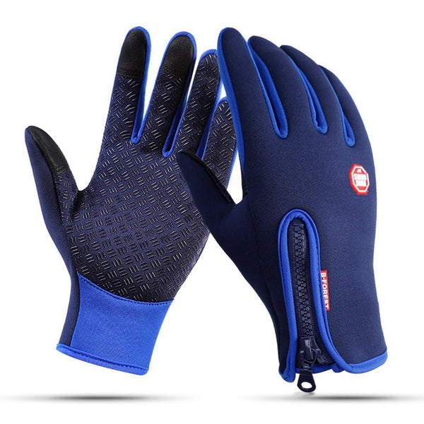 Windproof Men Ski Snowboard Motorcycle Riding Gloves Touch Screen