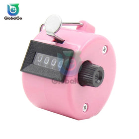 4 Digit Number Counters Hand Finger Mechanical Manual Counting Tally Clicker Timer Outdoor Sport