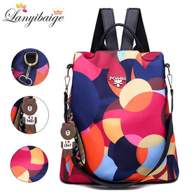 Women Fashion Backpack Large Capacity Ladies Travel Backpack