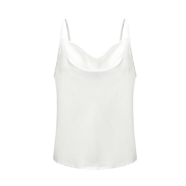 Satin Women Thin Wild Solid Camis Vest Women Tank Top