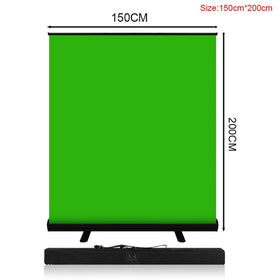 Collapsible Green Screen Background Pull-up Stand 150cm*200cm