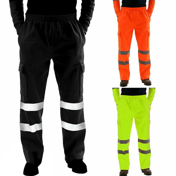 Casual Sanitation Worker Men Reflective Strips Trousers