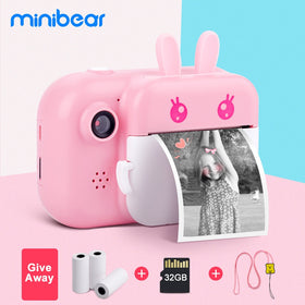 Kids Instant Camera Digital Video Camera with Print Paper