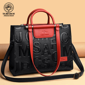 Woman Retro Ladies Leather Handbag Large Capacity