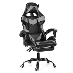 Ergonomic  Computer Office Gaming Lying Lift Swivel Adjustable Footrest Armchair