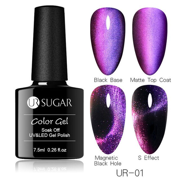 7.5ml 9D Galaxy Cat Eye Nail Gel Chameleon Magnetic Soak Off UV/LED Nail Varnish Semi Permanent