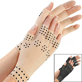 Magnetic Anti Arthritis Health Compression Therapy Gloves Fingerless