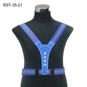 LED Cycling Vest High Visibility Outdoor Running Cycling Reflective Safety Vest