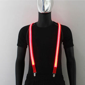 Light Up Men's Led Suspenders Bow Tie Perfect for Music Festival