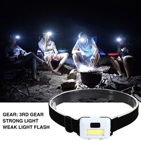 LED Headlamp Waterproof 3 Modes Outdoor Cycling Climbing Hiking Fishing Working Flashlight