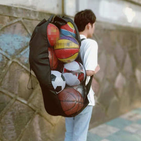 Large-Capacity Outdoor Sports Storage Net Backpack Basketball Football