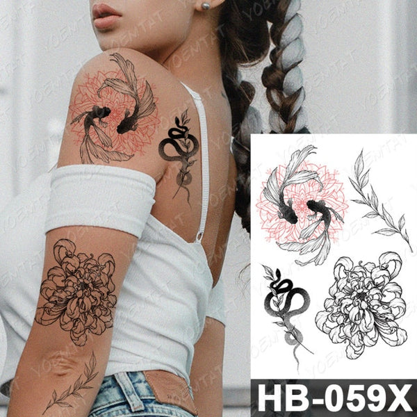 Waterproof Temporary Tattoo Sticker David Statue Old School Angel Flash Tattoos Heart Knife Body Art