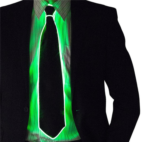 Flashing Cosplay LED Tie Glowing DJ BAR Dance Carnival Party