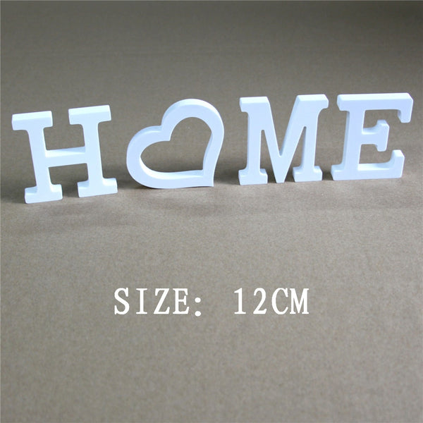 12CM Wedding  Decoration Artificial  Wood wooden Letters Wedding Birthday Home