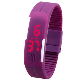 Charming Wristwatches Unisex Men's Women's Silicone Red LED Sports Bracelet Touch Digital Wrist Watch