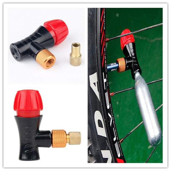 Bicycle air pump valve AV/FV portable CO2 air bottle valve head schrader&presta valve universal mtb Air Inflator