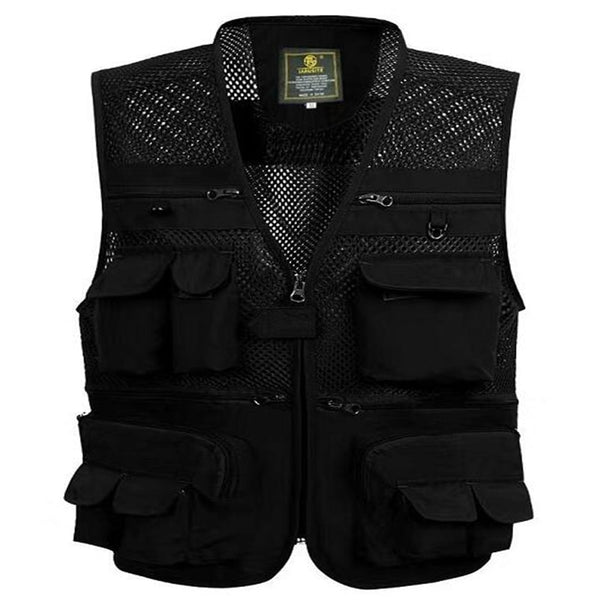 Outdoors Tactical Mesh Vest Men Breathable Shooting Multi Pockets Vest Shooting