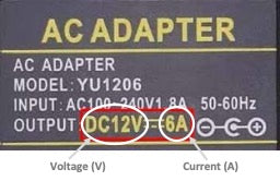Adapter Power Label