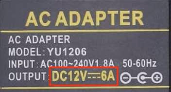 Adapter specification plate