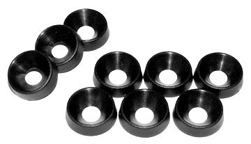 Hammond, 1421A Series, Black Plastic Cup Washers, 100pk