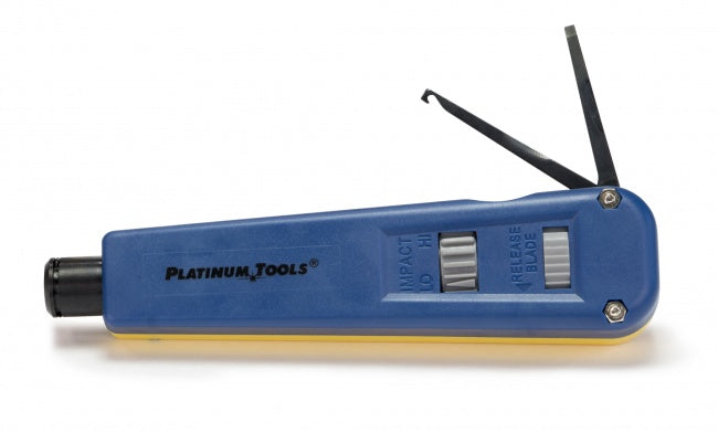 Platinum Tools, PT Punchdown Tool, Yellow/Blue (Blades Not Incl'd)