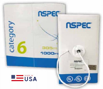 N-Spec by Superior Essex, Cat6, FT6/CMP, Plenum, 550MHz 1000ft, Blue