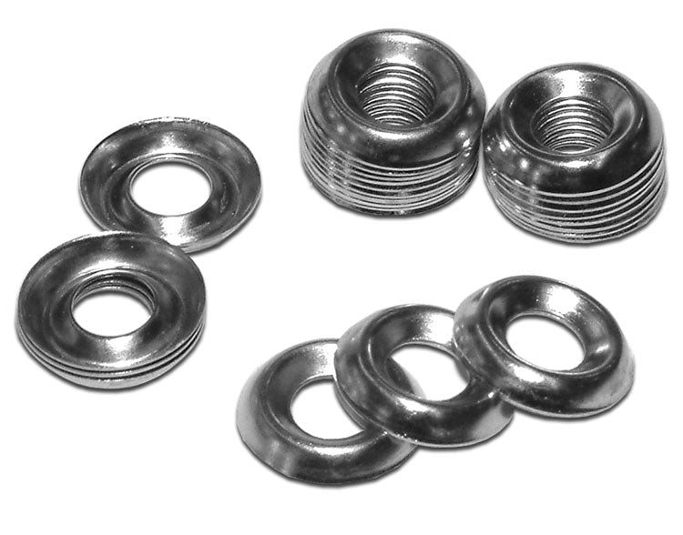 Hammond, 1421 Series, 10-32 Nickel Plated Steel Cup Washers,  100pk