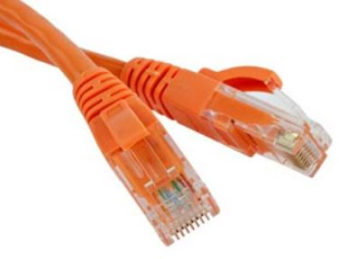 CAT5E Snag-Proof Patch Cable - Orange   1'