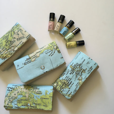Essential oil roll on travel set