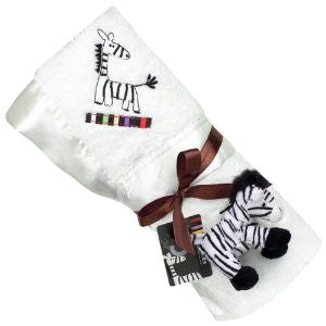 Kushies Zebra Blanket