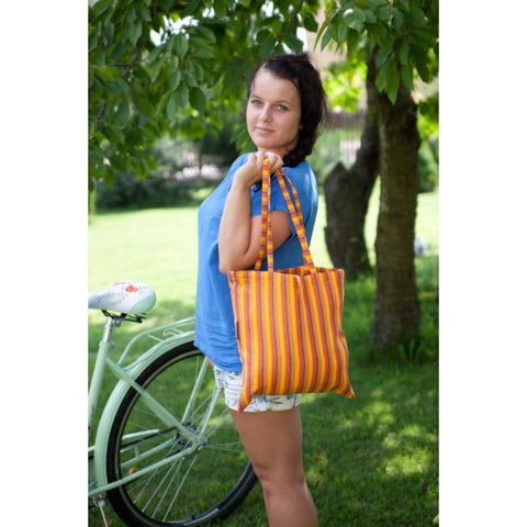 Lenny Lamb Shopping Bag ORANGE COCKTAIL