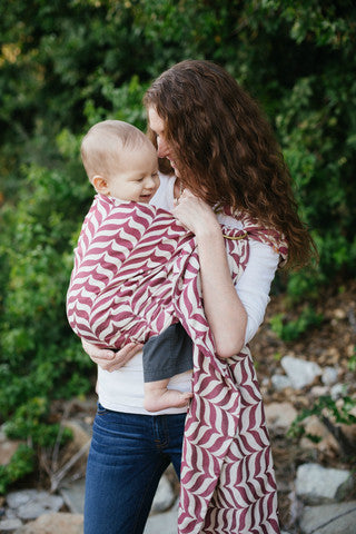 Tula- Migaloo Wrap Conversion Ring Sling - Passion, S/M
