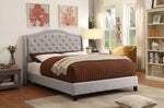"Louvre 60"" Queen Platform Bed in Grey"