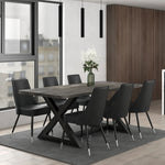 Zax Rectangular Dining Table in Distressed Grey